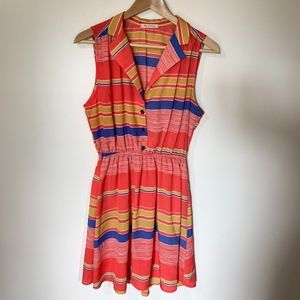 Anthropologie {Tea n Rose} Striped Dress Sz Large